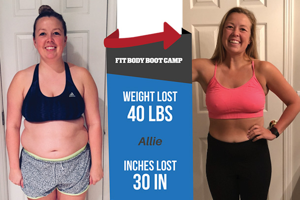 Fitness Before and After - Allie