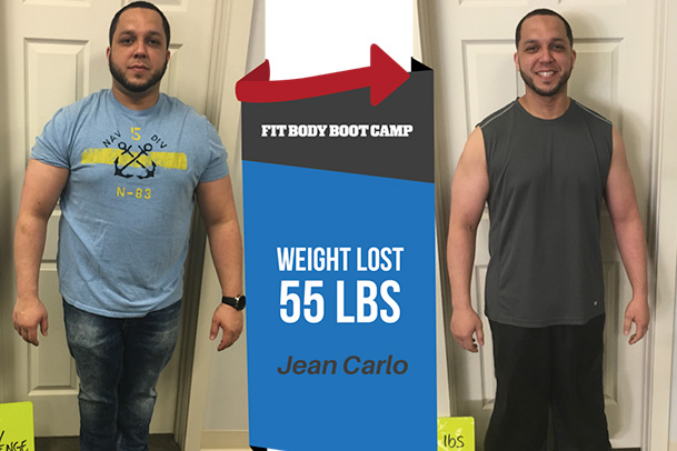 Fitness Before and After Jean Carlo